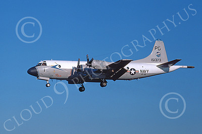 P-3USN 00136 A landing Lockheed P-3 Orion USN 151373 VP-65 TRIDENTS 3-1982 airplane picture, by Michael Grove, Sr