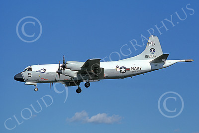 P-3USN 00134 A landing Lockheed P-3 Orion USN 152186 VP-65 TRIDENTS 3-1980 airplane picture, by Michael Grove, Sr