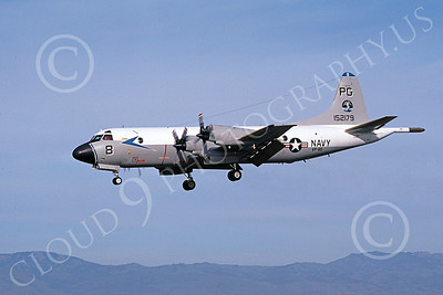 P-3USN 00130 A landing Lockheed P-3 Orion USN 152179 VP-65 TRIDENTS 5-1980 airplane picture, by Michael Grove, Sr