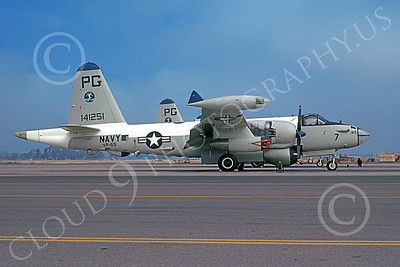 P-2USN 00131 A static Lockheed SP-2H Neptune USN 141251 VP-65 TRIDENTS NAS Pt Mugu 10-1973 military airplane picture by Michael Grove, Sr
