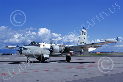 P-2USN 00041 A taxing Lockheed P-2J Neptune USN 148349 VP-65 TRIDENTS 3-1974 military airplane picture by Michael Grove, Sr