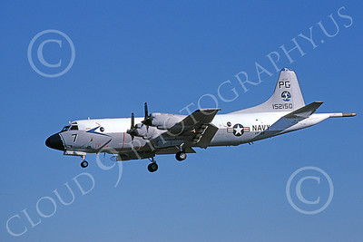 P-3USN 00128 A landing Lockheed P-3 Orion USN 152150 VP-65 TRIDENTS 12-1978 airplane picture, by Michael Grove, Sr