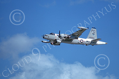 P-2USN 00048 A flying Lockheed SP-2H Neptune USN 145909 VP-65 TRIDENTS 3-1974 military airplane picture by Michael Grove, Sr