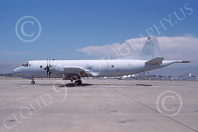 P-3USN 00231 A static Lockheed P-3 Orion USN VP-65 TRIDENTS NAS Moffett 8-2001 military airplane picture by Tom Chee