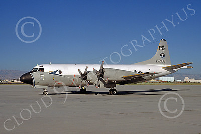 P-3USN 00229 A static Lockheed P-3 Orion USN 152186 VP-65 TRIDENTS NAS Moffett 7-1981 military airplane picture by Michael Grove, Sr