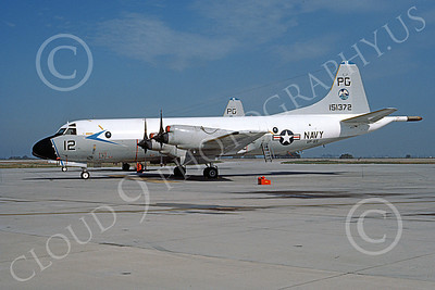 P-3USN 00227 A static Lockheed P-3 Orion USN 15137 VP-65 TRIDENTS NAS Pt Mugu 7-1984 military airplane picture by Joe O'Reily