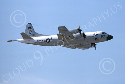 P-3USN 00126 A flying Lockheed P-3 Orion USN VP-65 TRIDENTS 7-1976 airplane picture, by Michael Grove, Sr