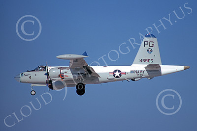 P-2USN 00056 A landing Lockheed SP-2H Neptune USN 145905 VP-65 TRIDENTS 8-1973 military airplane picture by Michael Grove, Sr