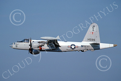 P-2USN 00062 A flying Lockheed SP-2H Neptune USN 145915 VP-67 GOLDEN HAWKS 10-1988 military airplane picture by Barry E Roop
