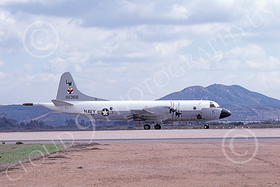 P-3USN 00241 A taxing Lockheed P-3 Orion USN 157366 VP-68 BLACK HAWKS 2-1979 military airplane picture, by Michael Grove, Sr