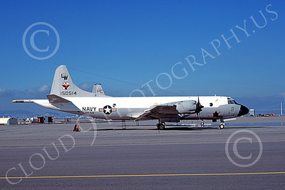 P-3USN 00239 A static Lockheed P-3 Orion USN 150514 VP-68 BLACK HAWKS NAS Alameda 2-1978 military airplane picture by Michael Grove, Sr