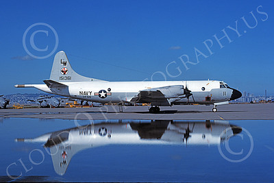 P-3USN 00073 A static Lockheed P-3 Orion USN 151361 VP-68 BLACK HAWKS NAS Alameda 4-1984 military airplane picture by Tom Chee