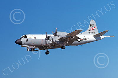P-3USN 00144 A landing Lockheed P-3 Orion USN 150518 VP-91 8-1977 airplane picture, by Michael Grove, Sr
