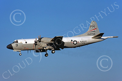 P-3USN 00146 A landing Lockheed P-3 Orion USN 152756 VP-91 BLACK CATS military airplane picture by Michael Grove, Sr