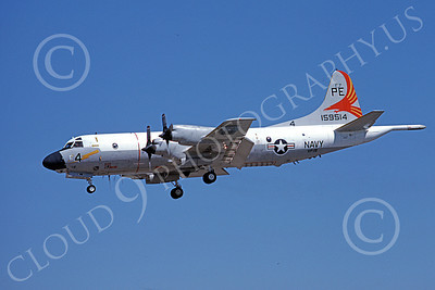 P-3USN 00140 A landing Lockheed P-3 Orion USN 159514 VP-19 BIG RED NAS 8-1978 airplane picture, by Michael Grove, Sr