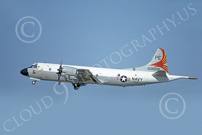P-3USN 00138 A flying Lockheed P-3 Orion USN 159506 VP-19 BIG RED 5-1982 military airplane picture by Michael Grove, Sr