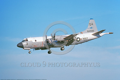 P-3USN-VP-22 002 A landing Lockheed P-3 Orion USN 154593 anti-submarine maritime control warfare airplane VP-22 BLUE GOOSE 9-1978 military airplane picture, by Michael Grove, Sr      DONEwt copy
