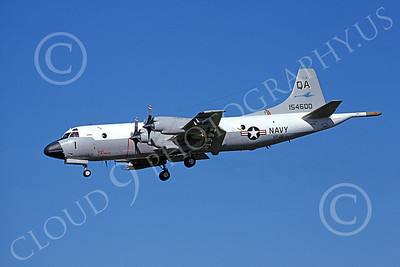 P-3USN 00166 A landing Lockheed P-3 Orion USN 1546000 VP-22 BLUE GOOSE 7-1978 airplane picture, by Michael Grove, Sr
