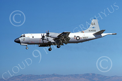P-3USN 00164 A landing Lockheed P-3 Orion USN 154592 VP-22 BLUE GOOSE 7-1977 airplane picture, by Michael Grove, Sr