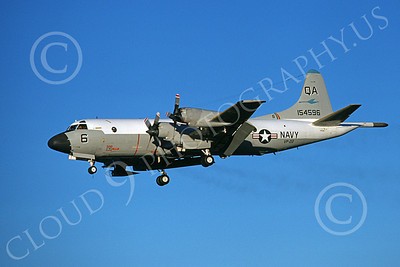 P-3USN 00188 A landing Lockheed P-3 Orion USN 154596 VP-22 BLUE GOOSE 8-1978 military airplane picture by Michael Grove, Sr