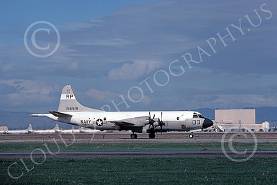 P-3USN 00251 A taxing Lockheed P-3 Orion USN 156519 VP-31 BLACK LIGHTNINGS NAS Moffett 5-1976 military airplane picture by Michael Grove, Sr
