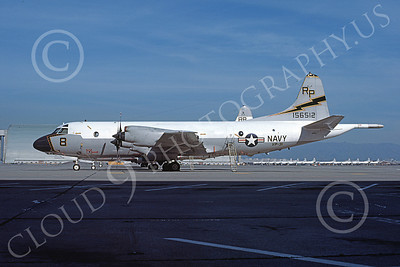 P-3USN 00263 A static Lockheed P-3 Orion USN 156512 VP-31  BLACK LIGHTNINGS NAS Moffett 3-1977 airplane picture, by Michael Grove, Sr