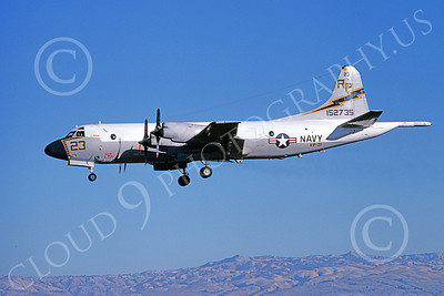 P-3USN 00180 A landing Lockheed P-3 Orion USN 152735 VP-31 BLACK LIGHTNINGS 12-1978 military airplane picture by Michael Grove, Sr