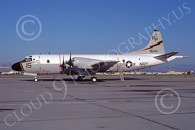 P-3USN 00257 A static Lockheed P-3 Orion USN 161411 VP-31  BLACK LIGHTNINGS NAS Moffett 9-1982 airplane picture, by Michael Grove, Sr