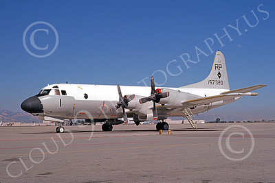 P-3USN 00249 A static Lockheed P-3 Orion USN 157320 VP-31 BLACK LIGHTNINGS NAS Moffett 7-1974 military airplane picture by Michael Grove, Sr
