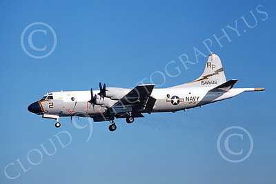 P-3USN 00184 A landing Lockheed P-3 Orion USN 156508 VP-31  BLACK LIGHTNINGS 2-1980 airplane picture, by Michael Grove, Sr