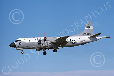 P-3USN 00168 A landing Lockheed P-3 Orion USN 159505 VP-31 BLACK LIGHTNINGS  11-1975 military airplane picture by Michael Grove, Sr