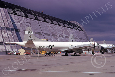P-3USN 00253 A static Lockheed P-3 Orion USN 150511 VP-31 BLACK LIGHTNINGS NAS Moffett 3-1973 military airplane picture by Michael Grove, Sr
