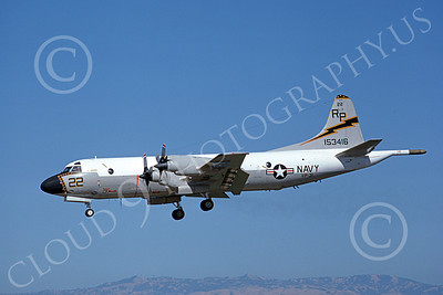P-3USN 00190 A landing Lockheed P-3 Orion USN 153416 VP-31  BLACK LIGHTNINGS 6-1980 airplane picture, by Michael Grove, Sr