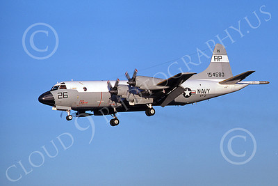 P-3USN 00174 A landing Lockheed P-3 Orion USN 154580  VP-31  BLACK LIGHTNINGS 4-1977 airplane picture, by Michael Grove, Sr