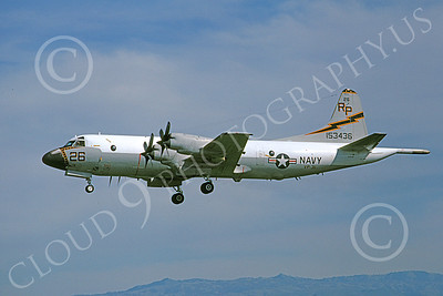 P-3USN 00194 A landing Lockheed P-3 Orion USN 153436 VP-31  BLACK LIGHTNINGS 4-1981 airplane picture, by Michael Grove, Sr