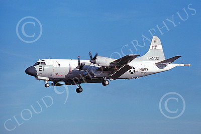P-3USN 00172 A landing Lockheed P-3 Orion USN 152773  VP-31  BLACK LIGHTNINGS 3-1977 airplane picture, by Michael Grove, Sr