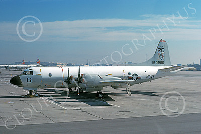 P-3USN 00435 A static Lockheed P-3A Orion USN 160286 VP-46 GRAY KNIGHTS RC code NAS Moffett 9-1977 military airplane picture by Michael Grove, Sr