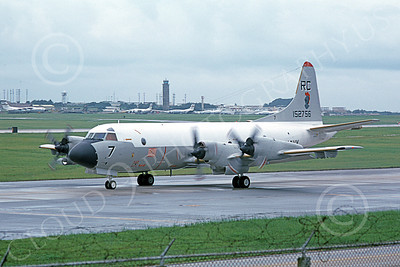P-3USN 00059 A taxing Lockheed P-3 Orion USN 152756 VP-46 GRAY KNIGHTS RC code 7-1976 military airplane picture by Thom McDermitt
