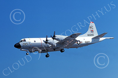 P-3USN 00320 A landing Lockheed P-3A Orion USN 160289 VP-46 GRAY KNIGHTS RC code 9-1977 military airplane picture, by Michael Grove, Sr