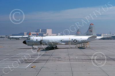 P-3USN 00437 A static Lockheed P-3A Orion USN 160284 VP-46 GRAY KNIGHTS NAS Moffett 9-1977 military airplane picture by Michael Grove, Sr