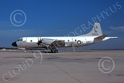 P-3USN 00425 A static Lockheed P-3 Orion USN 158931VP-5 MAD FOXES LA code 12-1976 military airplane picture by Peter B Lewis