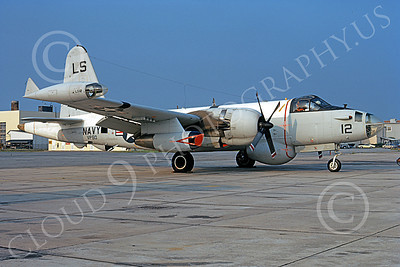 P-2USN 00137 A static Lockheed SP-2H Neptune USN VP-60 COBRAS NAS Jax 12-1972 military airplane picture by L B Sides