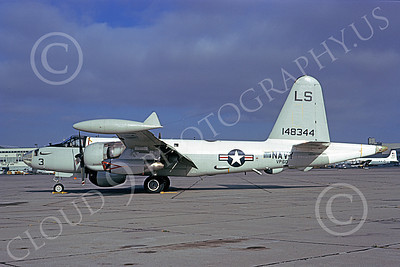 P-2USN 00139 A Lockheed P-2 Neptune USN 148344 VP-60 COBRAS NAS Alameda 9-1973 military airplane picture by Michael Grove, Sr