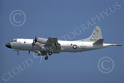 P-3USN 00054 A landing Lockheed P-3 Orion USN VP-66 THE LIBERTY BELLS 7-1974 military airplane picture by Vince Dean