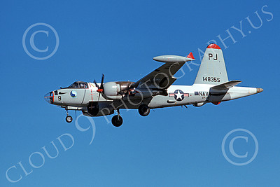 P-2USN 00072 A landing Lockheed SP-2H Neptune USN 148355 VP-69 TOTEMS PJ code 2-1975 military airplane picture by Michael Grove, Sr