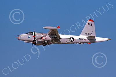 P-2USN 00076 A flying Lockheed SP-2H Neptune USN 148362 VP-69 TOTEMS PJ code 12-1975 military airplane picture by Michael Grove, Sr
