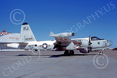 P-2USN 00075 A static Lockheed SP-2H Neptune USN 145914 VP-69 TOTEMS PJ code Hill AFB 3-1973 military airplane picture by Michael Grove, Sr