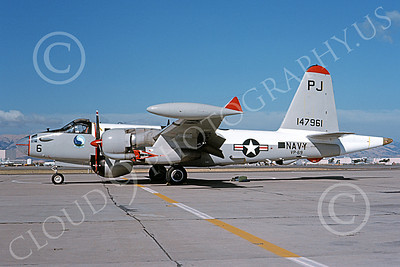 P-2USN 00077 A static Lockheed SP-2H Neptune USN 147961 VP-69 TOTEMS PJ code NAS Moffett 11-1975 military airplane picture by Michael Grove, Sr
