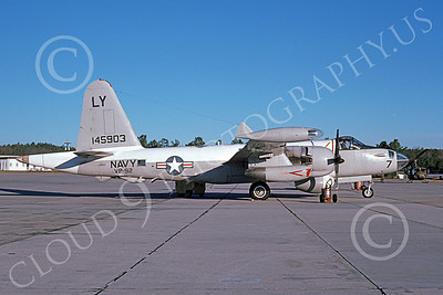 P-2USN 00089 A static Lockheed SP-2H Neptune USN 145903 VP-92 MINUTEMEN Dobbins AFB 1-1975 military airplane picture by Ray Leader