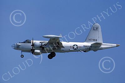 P-2USN 00092 A landing Lockheed SP-2H Neptune USN 140443 VP-92 3-1974, by Michael Grove, Sr